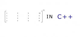 مفتوح المصدر : برنامج حساب مقلوب مصفوفة بلغة ++C